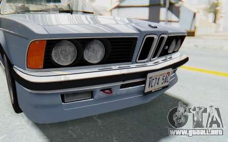 BMW M635 CSi (E24) 1984 IVF PJ1 para vista lateral GTA San Andreas