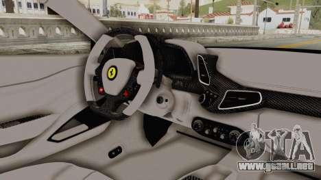 Ferrari 458 VPM Crew para visión interna GTA San Andreas