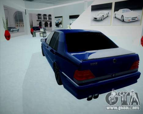 Mercedes Benz W140 Brabus para GTA San Andreas left