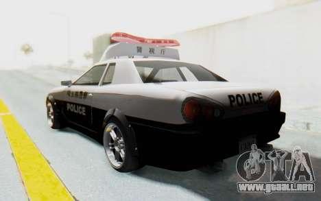 Elegy Japanese Police para GTA San Andreas left