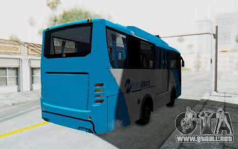 Hino Evo-C Transjakarta Feeder Bus para GTA San Andreas vista posterior izquierda