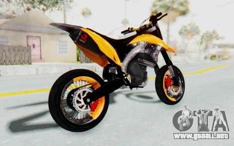 Kawasaki KLX150SD Tracker Supermoto para GTA San Andreas left