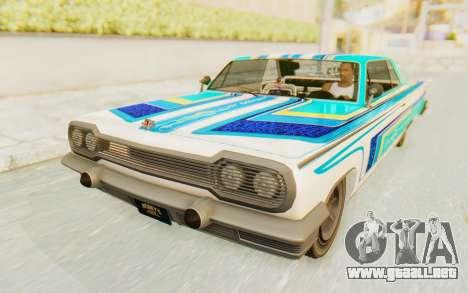 GTA 5 Declasse Voodoo Alternative v1 para GTA San Andreas vista hacia atrás