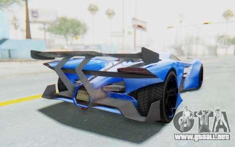 GTA 5 Grotti Prototipo v1 para GTA San Andreas vista posterior izquierda