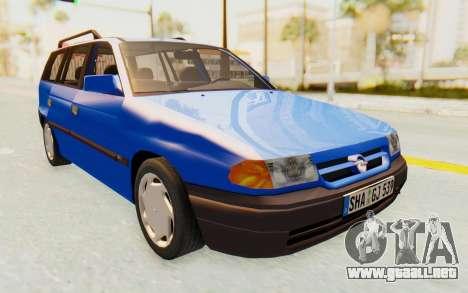 Opel Astra F Kombi 1997 para la visión correcta GTA San Andreas