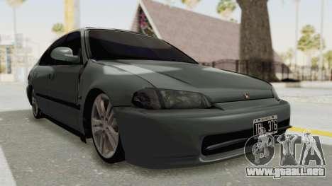 Honda Civic SI Sedan 1992 para la visión correcta GTA San Andreas