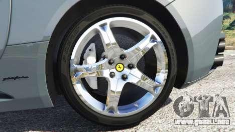 GTA 5 Ferrari California Autovista vista lateral trasera derecha