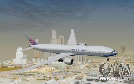 Boeing 777-300ER China Airlines para GTA San Andreas vista posterior izquierda