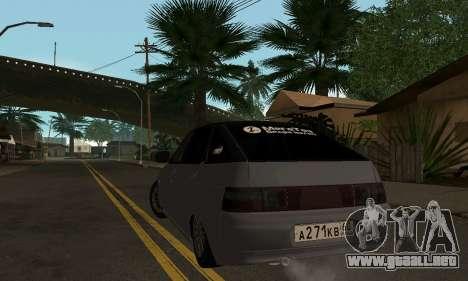 VAZ 2112 GVR para GTA San Andreas vista posterior izquierda