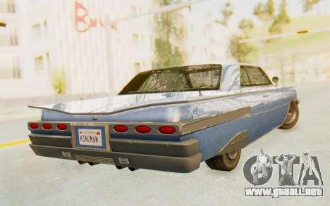 GTA 5 Declasse Voodoo Alternative v1 para GTA San Andreas left