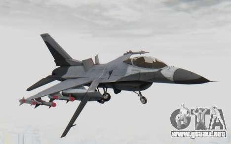 F-16 with Russian Missile para GTA San Andreas vista posterior izquierda