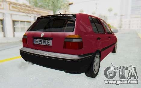 Volkswagen Golf 3 1994 para GTA San Andreas vista posterior izquierda