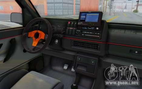 Volkswagen Golf 2 GTI 1.6V para visión interna GTA San Andreas