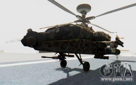 AH-64 Apache Leopard para la visión correcta GTA San Andreas