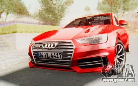 Audi A4 2017 IVF para GTA San Andreas