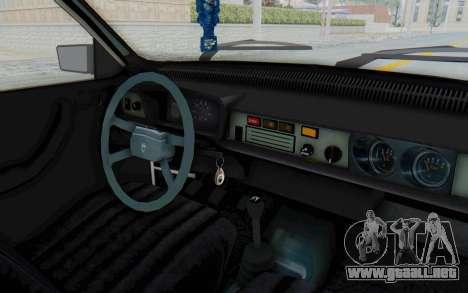 Dacia 1310 Break 1988 para visión interna GTA San Andreas