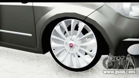 Fiat Linea 2014 para GTA San Andreas vista hacia atrás