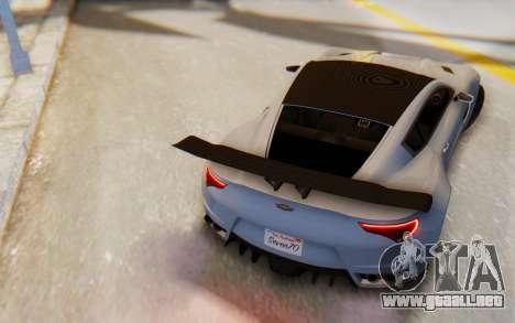 GTA 5 Dewbauchee Seven 70 SA Lights para GTA San Andreas left