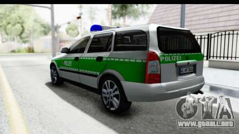 Opel Astra G Variant Polizei Bayern para GTA San Andreas left