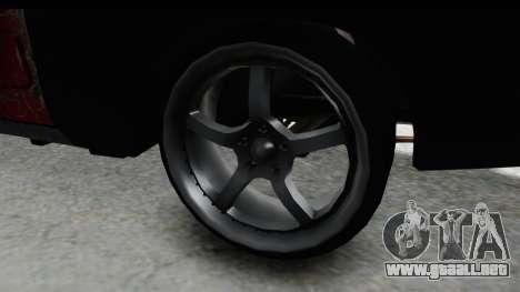 Dodge Charger Daytona F&F Bild para GTA San Andreas vista hacia atrás