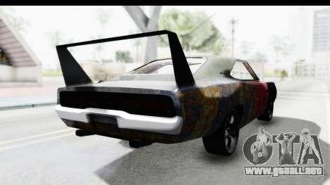 Dodge Charger Daytona F&F Bild para GTA San Andreas vista posterior izquierda
