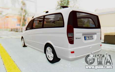 Mercedes-Benz Viano W639 2010 Long Version para GTA San Andreas left