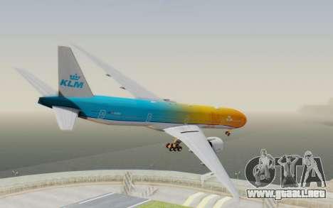 Boeing 777-300ER KLM - Royal Dutch Airlines v1 para GTA San Andreas left