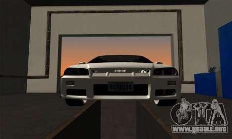 Nissan Skyline ER34 GT-R para GTA San Andreas vista hacia atrás