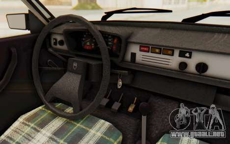 Dacia 1310 TLX para visión interna GTA San Andreas