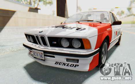 BMW M635 CSi (E24) 1984 IVF PJ1 para el motor de GTA San Andreas