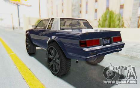 GTA 5 Willard Faction Custom Donk v1 para GTA San Andreas vista posterior izquierda