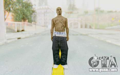 Mexican Skin para GTA San Andreas segunda pantalla