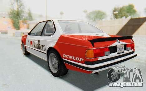 BMW M635 CSi (E24) 1984 IVF PJ1 para las ruedas de GTA San Andreas