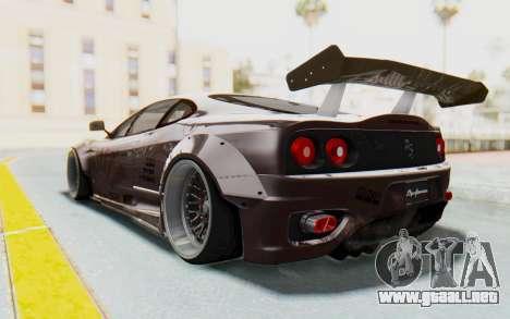 Ferrari 360 Modena Liberty Walk LB Perfomance v1 para visión interna GTA San Andreas