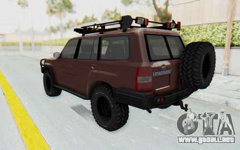 Nissan Patrol Y61 Off Road para GTA San Andreas left