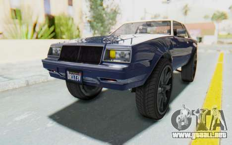 GTA 5 Willard Faction Custom Donk v1 para la visión correcta GTA San Andreas