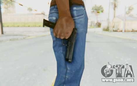 Tariq Iraqi Pistol Back v1 Black Long Ammo para GTA San Andreas tercera pantalla