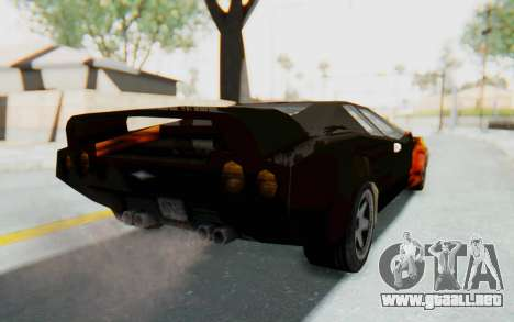GTA VC Cuban Infernus para GTA San Andreas vista posterior izquierda
