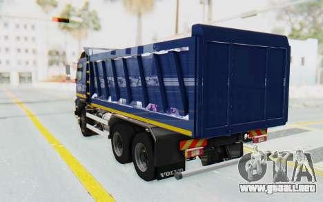 Volvo FMX 6x4 Dumper v1.0 Color para GTA San Andreas left