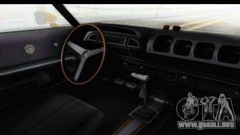Mercury Cyclone Spoiler 1970 IVF para visión interna GTA San Andreas