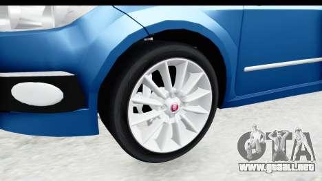 Fiat Linea 2014 Wheels para GTA San Andreas vista hacia atrás