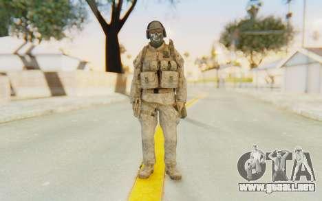 CoD MW2 Ghost Model v5 para GTA San Andreas segunda pantalla