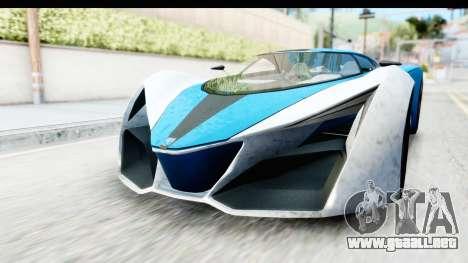 GTA 5 Grotti X80 Proto IVF para la visión correcta GTA San Andreas