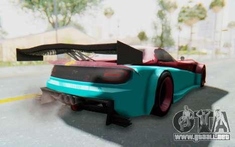 Bumblebee-R para GTA San Andreas vista posterior izquierda
