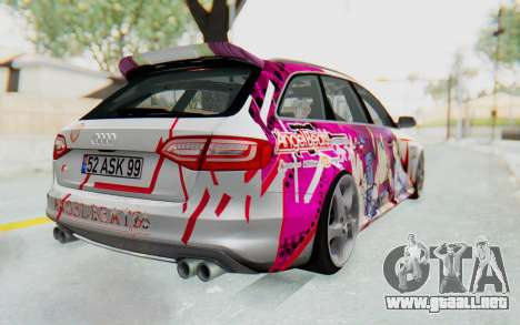 Audi S4 Avant Yurippe Angel Beats Itasha para la visión correcta GTA San Andreas