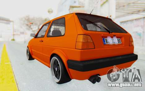 Volkswagen Golf 2 GTI 1.6V para GTA San Andreas left