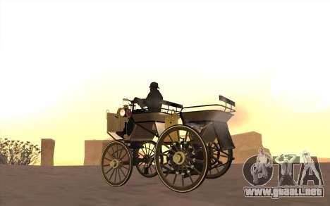 Mercedes-Benz Daimler 1886 para GTA San Andreas vista posterior izquierda