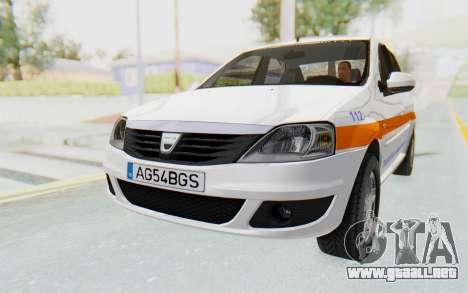Dacia Logan Facelift Ambulanta para la visión correcta GTA San Andreas