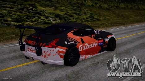 Nissan 350Z G-Drive Edition para GTA San Andreas vista posterior izquierda