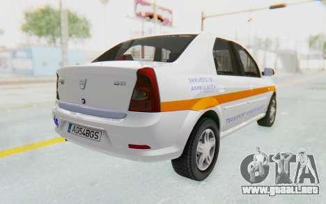 Dacia Logan Facelift Ambulanta para GTA San Andreas left